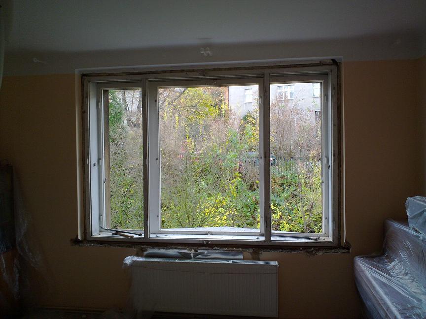 Výměna špaletových oken za plastová